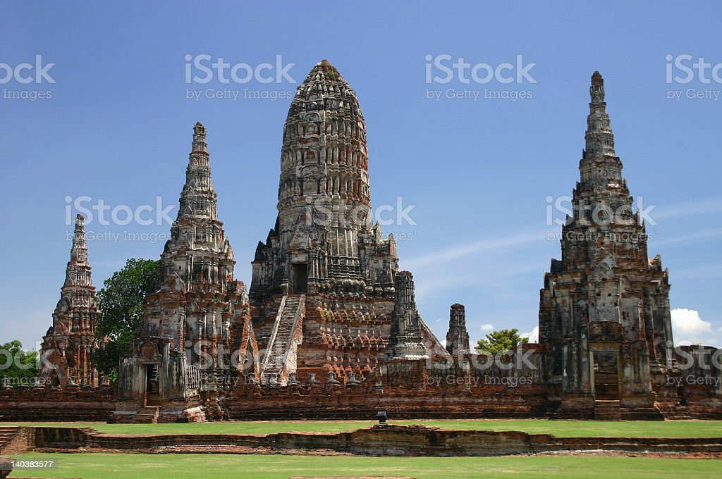 Wat Chai Wattanaram royalty-free stock photo