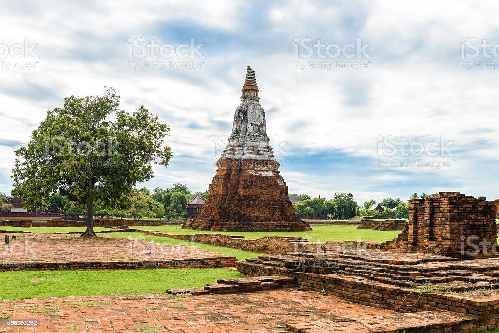 Wat Chai Watthanaram built by King Prasat foto royalty-free