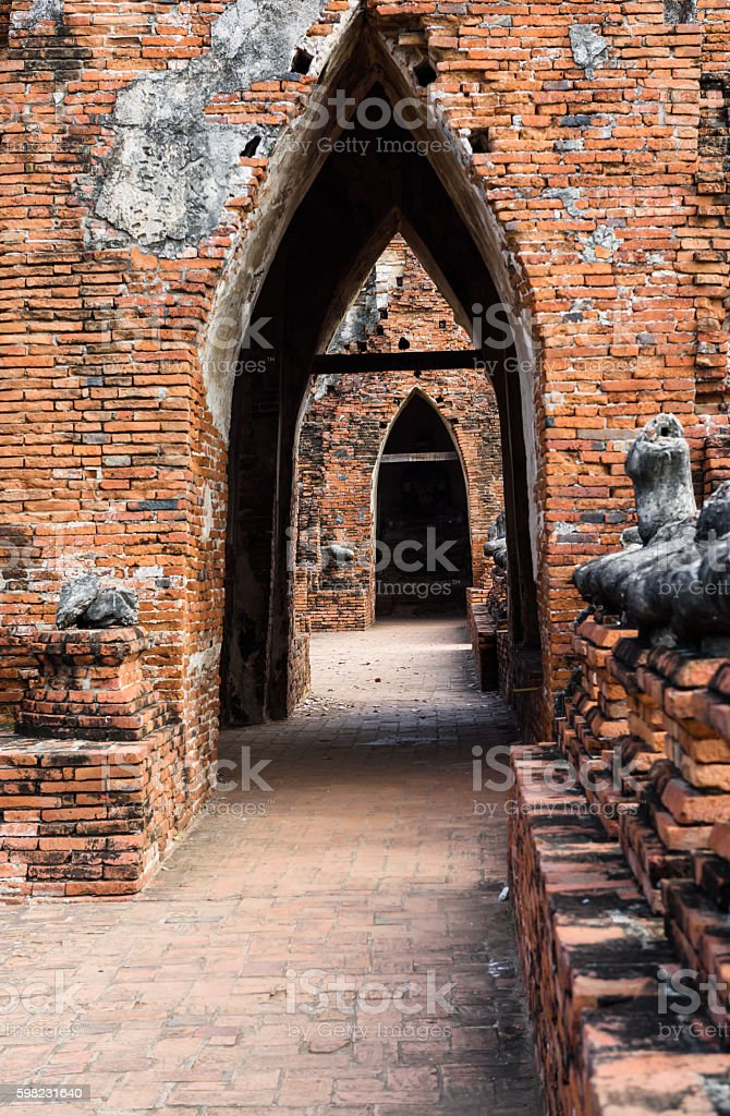 Wat Chai Watthanaram built by King Prasat foto royalty-free