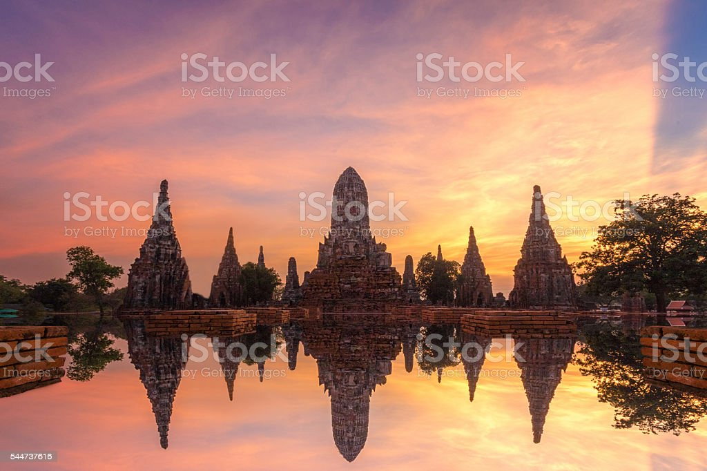 Wat Chai Watthanaram stock photo