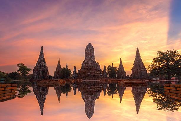 Wat Chai Watthanaram stock photo