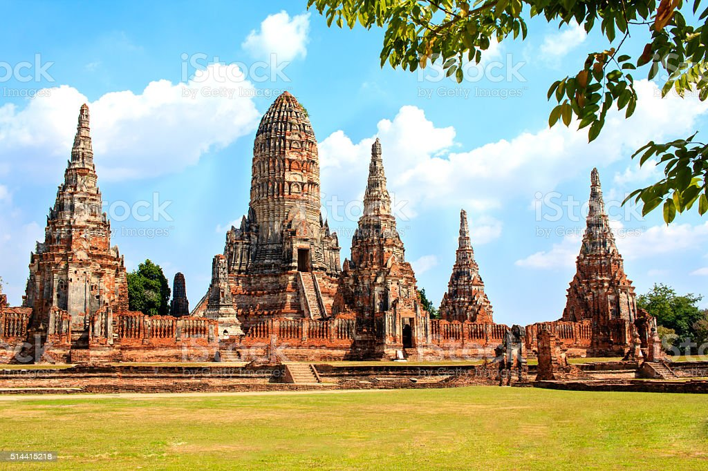 Wat Chai Watthanaram, Thailande stock photo