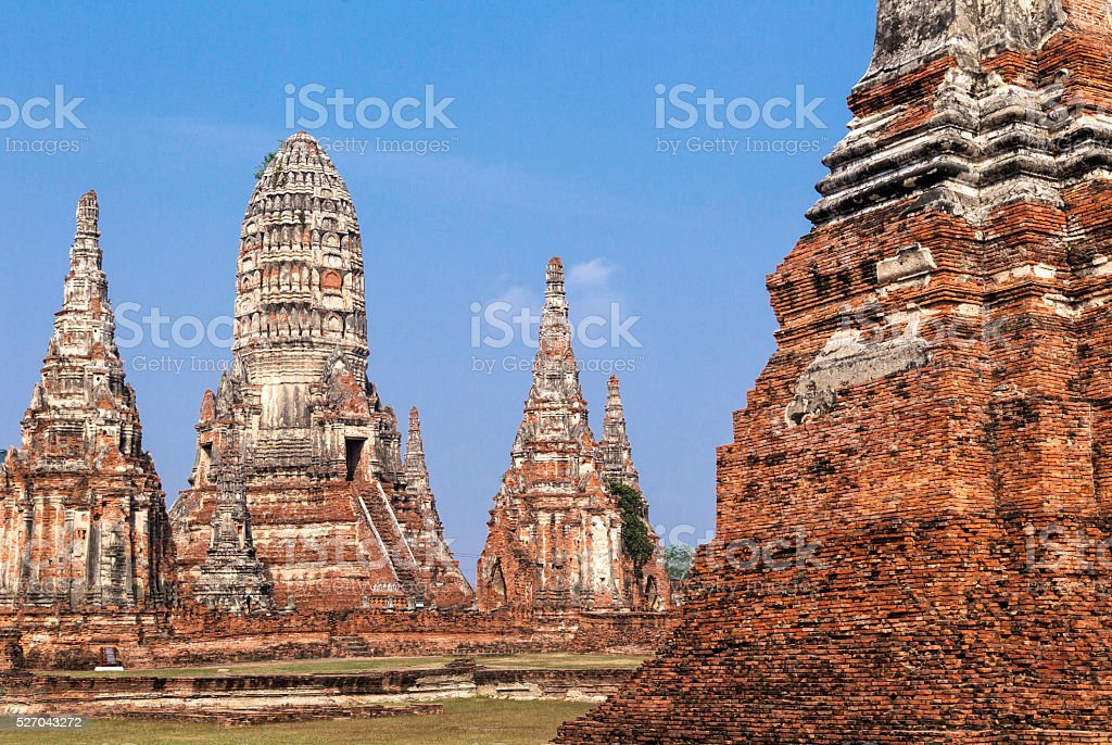 Wat chaiwatthanaram at ayutthaya, Thailand. stock photo