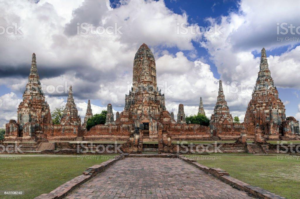 Wat Chaiwatthanaram in Ayutthaya Historical park, Ayutthaya, Thailand. stock photo