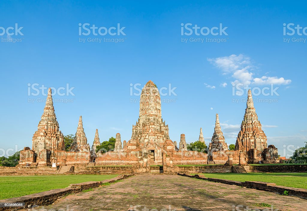 Wat Chaiwatthanaram in Ayutthaya, Thailand stock photo