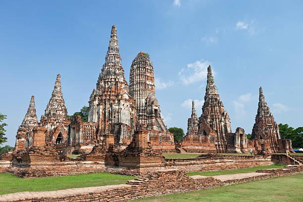 Wat Chaiwatthanaram stock photo