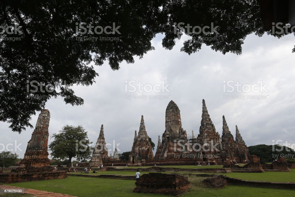 Wat Chaiwatthanaram stock photo