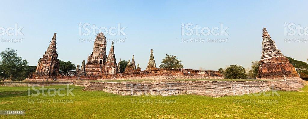 Wat Chaiwatthanaram, Thailand Temples, Ayutthaya Stupas royalty-free stock photo