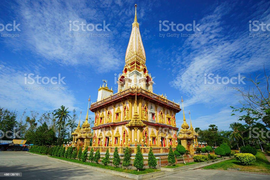 Wat Chalong temple Phuket, Thailand stock photo