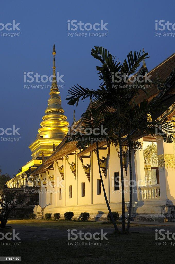 Wat Chang Kham, Nan royalty-free stock photo