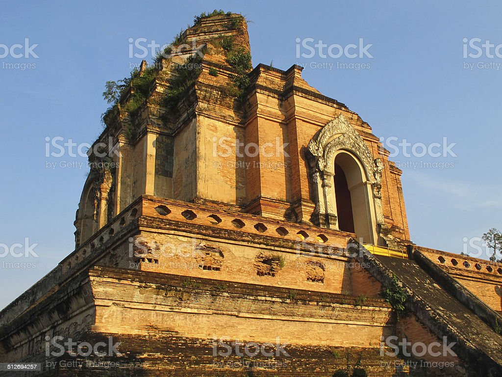 Wat Chedi Luang in Chiang Mai stock photo