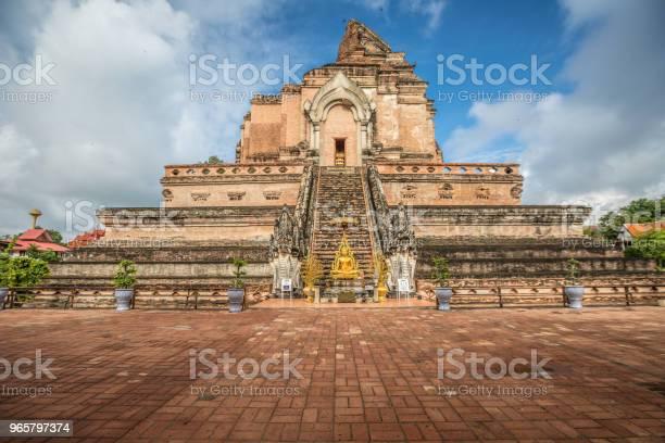 Wat Chedi Luang Ruinerna I Chiang Mai-foton och fler bilder på Arkitektur