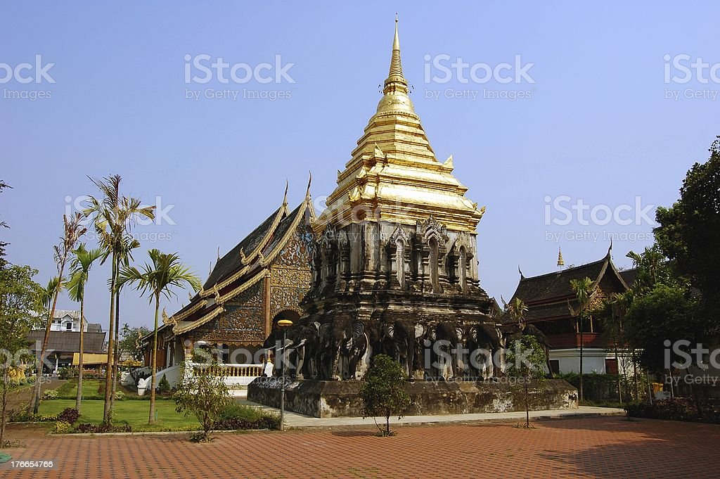 Wat Chiang Man, Chiang Mai Thailand royalty-free stock photo
