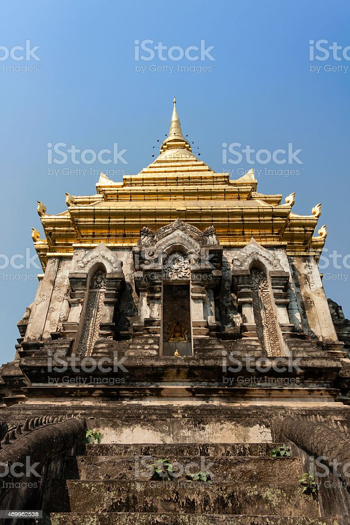 Wat Chiang Man in northern Thailand royalty-free stock photo