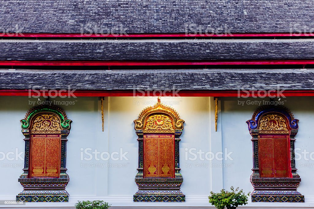 Wat Chiang Man, Thailand royalty-free stock photo