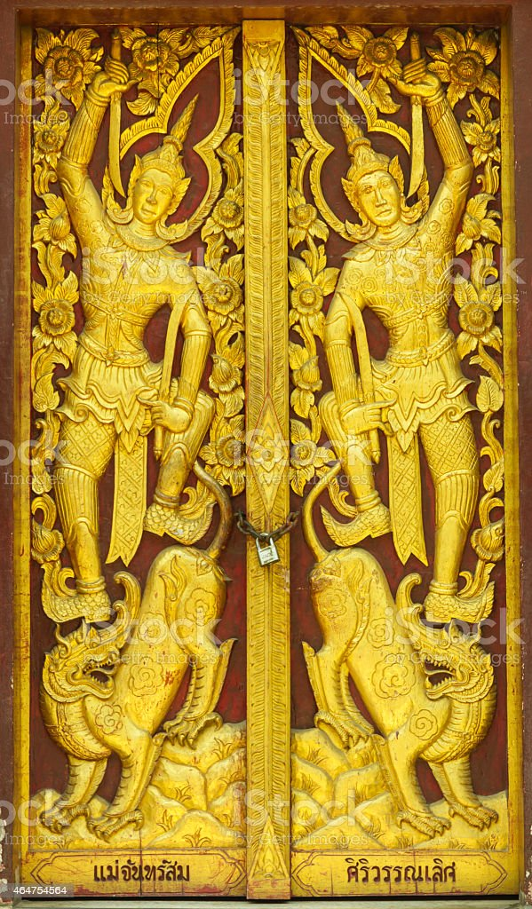 Wat Dokkham Chaingmai, Thailand. stock photo