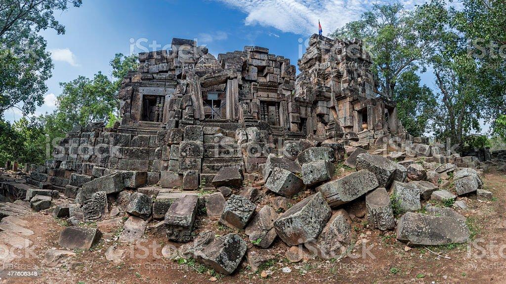 Wat Ek Phnom temple near the Battambang Cambodia stock photo