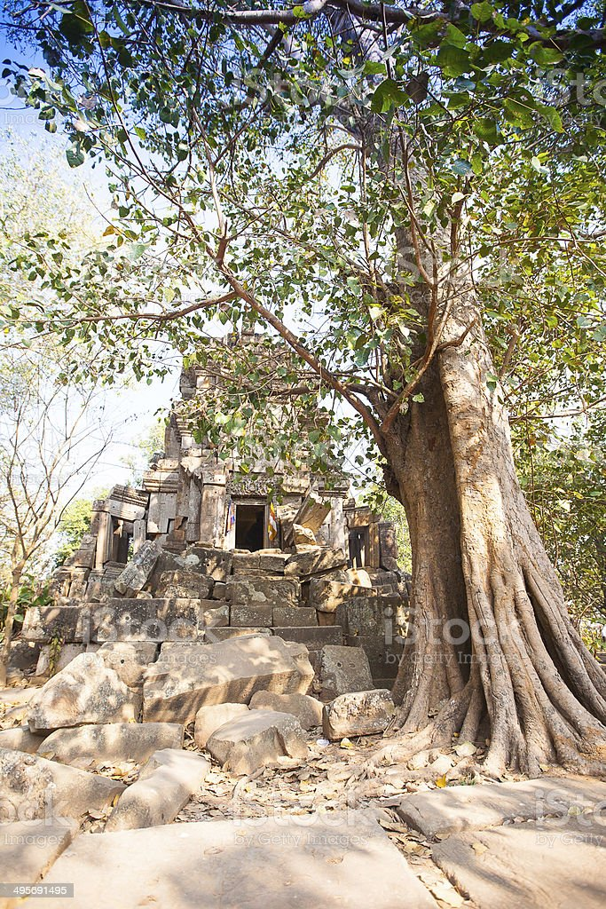 Wat Ek Phnom  temple near the Battambang city, Cambodia stock photo