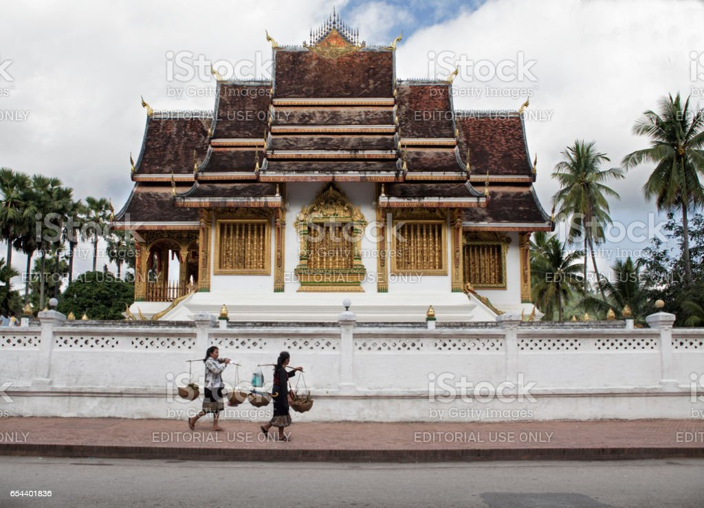 Wat Ho Pha Bang - Buddhist temple in Luang Prabang stock photo