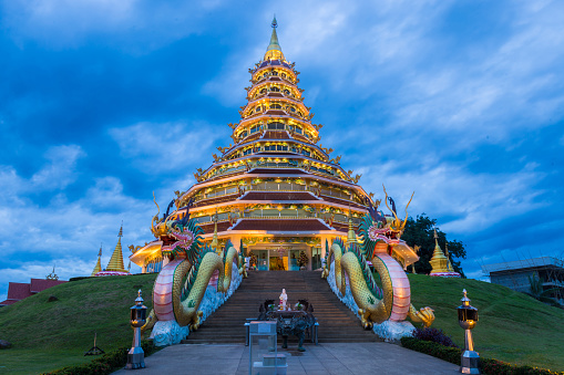 istock Wat Hyua Pla Kang, Chinese temple in Chiang Rai Thailand, This is the most popular and famous temple in Chiang Rai. 812463198