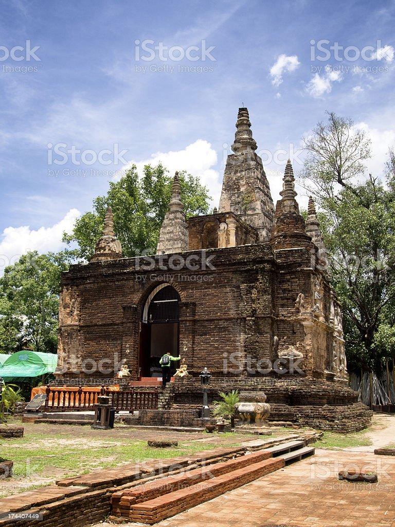 Wat jed-yod temple royalty-free stock photo