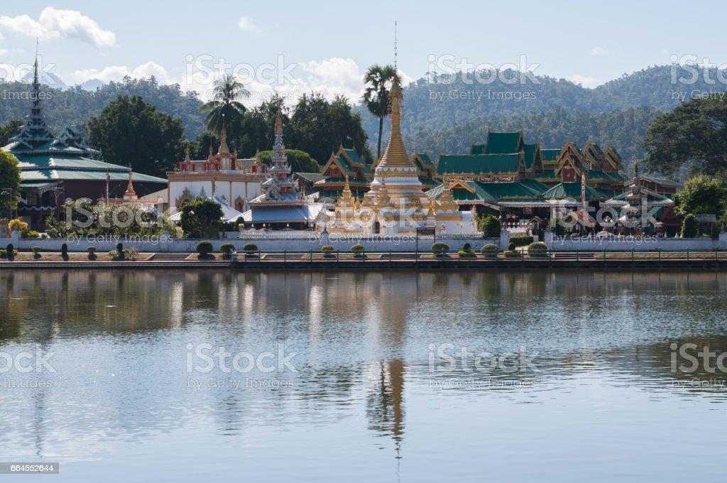 Wat Jong Klang in maehongson thailand royalty-free stock photo