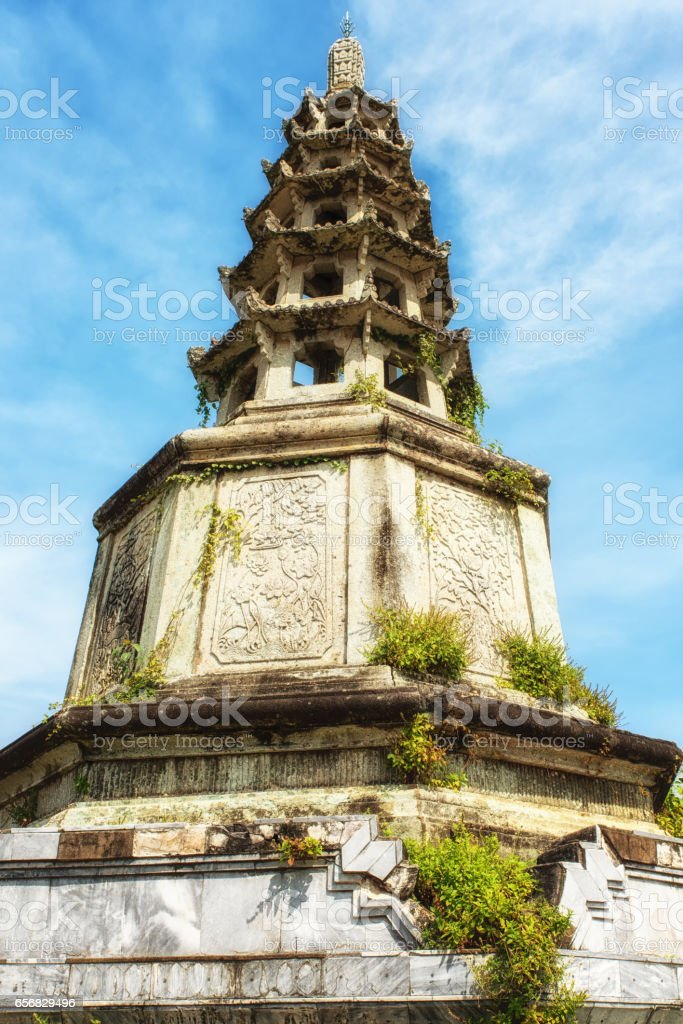Wat Kalayanamit Temple details, Bangkok, Thailand stock photo