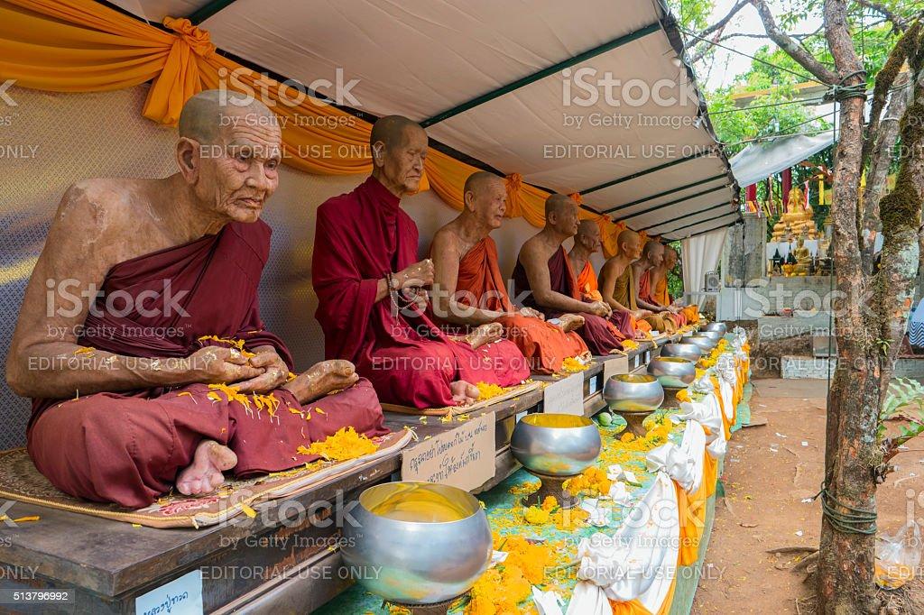 Wat Khao Khitchakut Phawanaram Monks stock photo