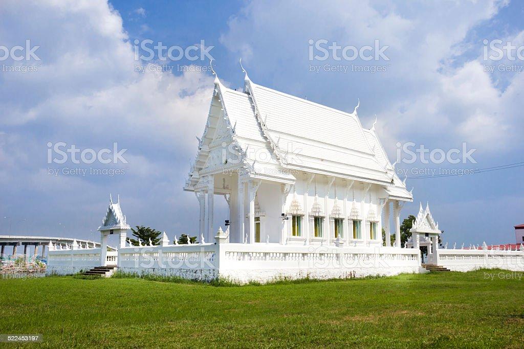 Wat Khao Laem Singh,White Temple,chanthaburi, Thailand stock photo
