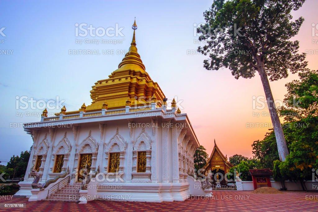 THAILAND-APRIL,26 :Wat Khua Mung pagoda temple location at Saraphi District Chiang Mai .THAILAND APRIL,26 2017 royalty-free stock photo