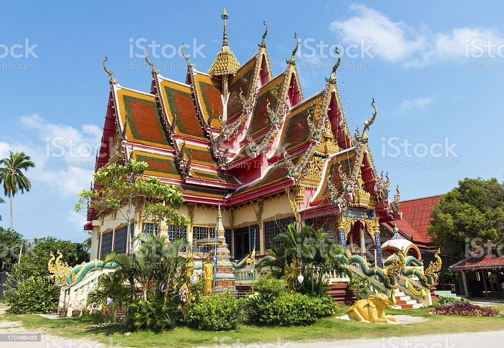 Wat Laem Koh Samui Thailand royalty-free stock photo