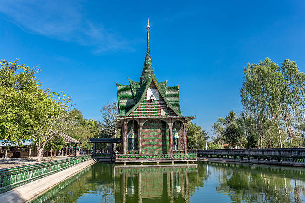 Wat Lankot, Million Bottles Temple,Srisaket province Thailand stock photo
