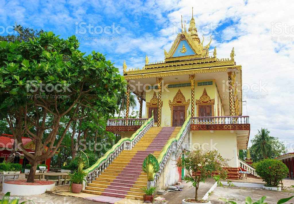 Wat Leu in Sihanoukville stock photo