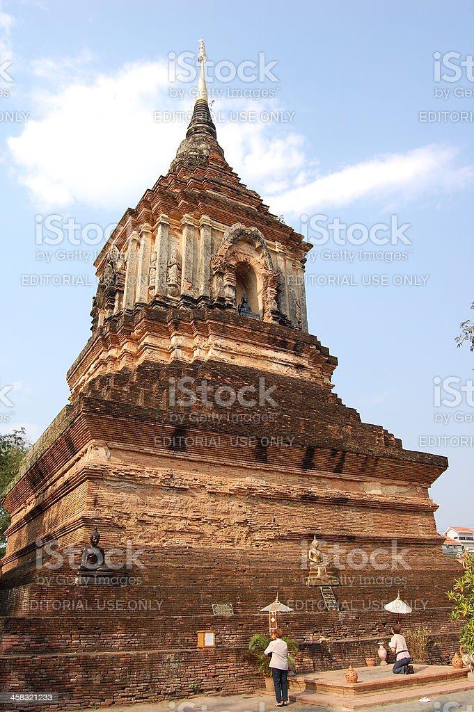Wat Lok Moli, Chiang Mai Thailand royalty-free stock photo