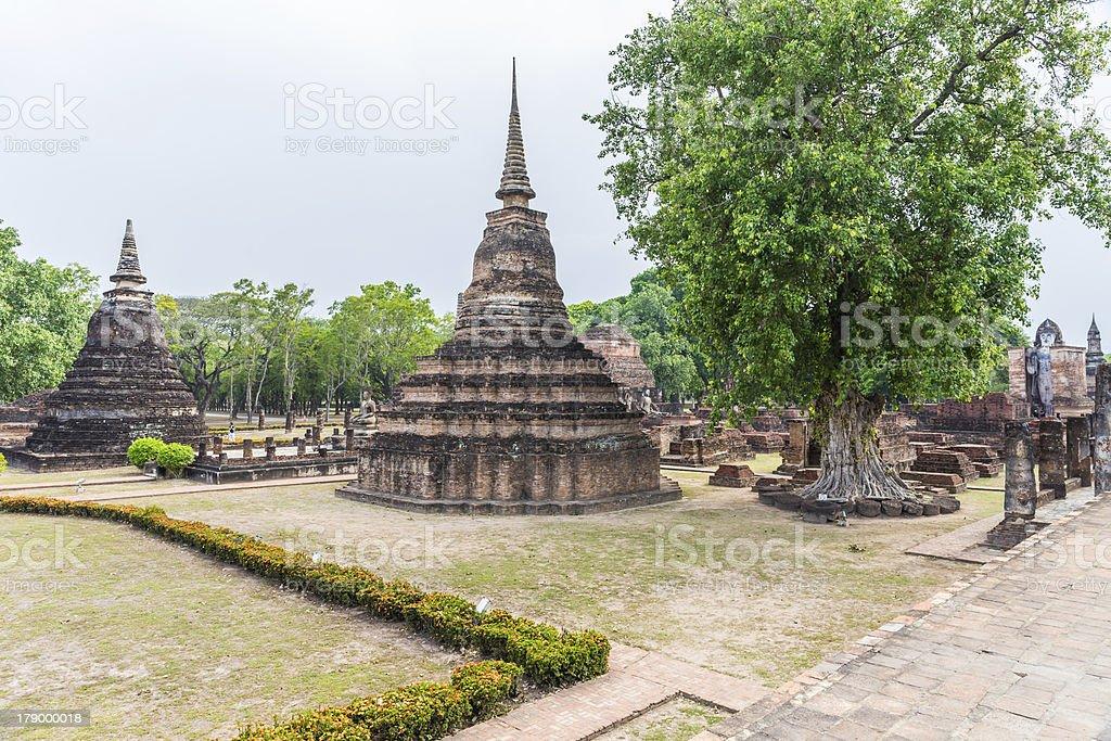 Wat Mahathat in Sukhothai Historical park royalty-free stock photo