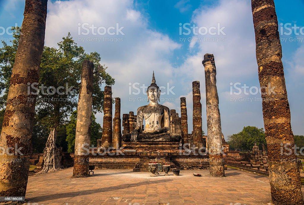 wat mahathat sukhothai stock photo