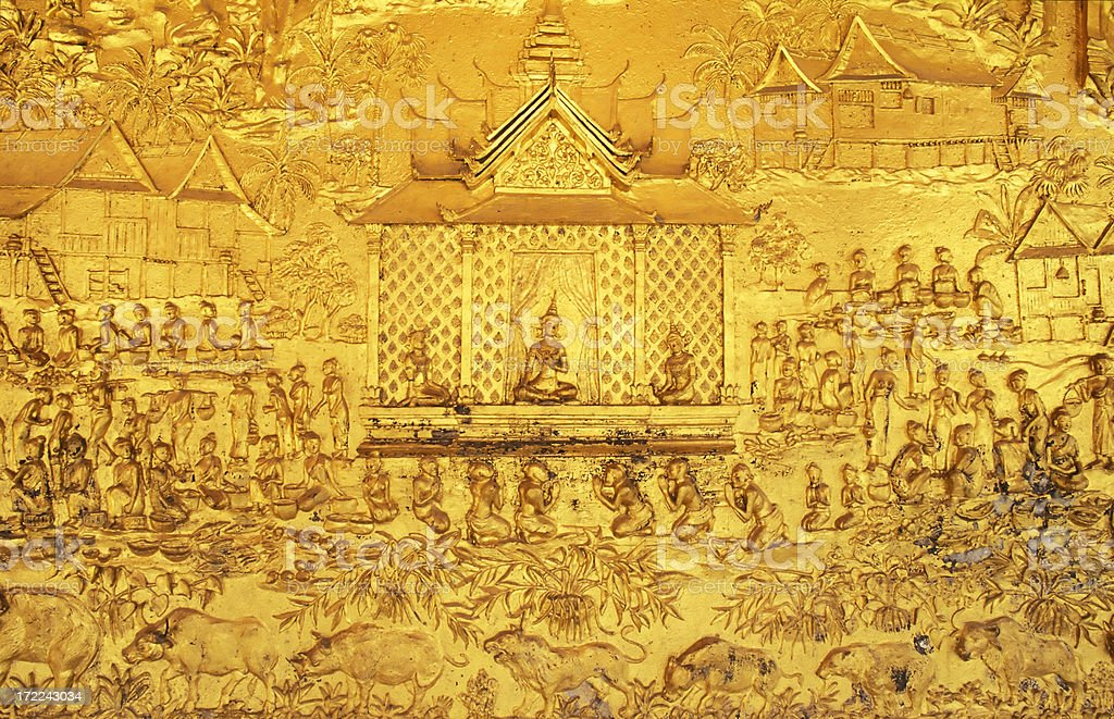 Wat Mai Suwannaphumaham  Luang Phabang Laos royalty-free stock photo