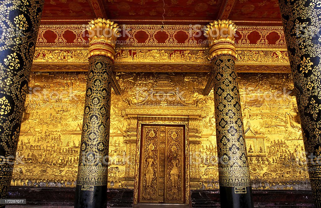 Wat Mai Suwannaphumaham stock photo