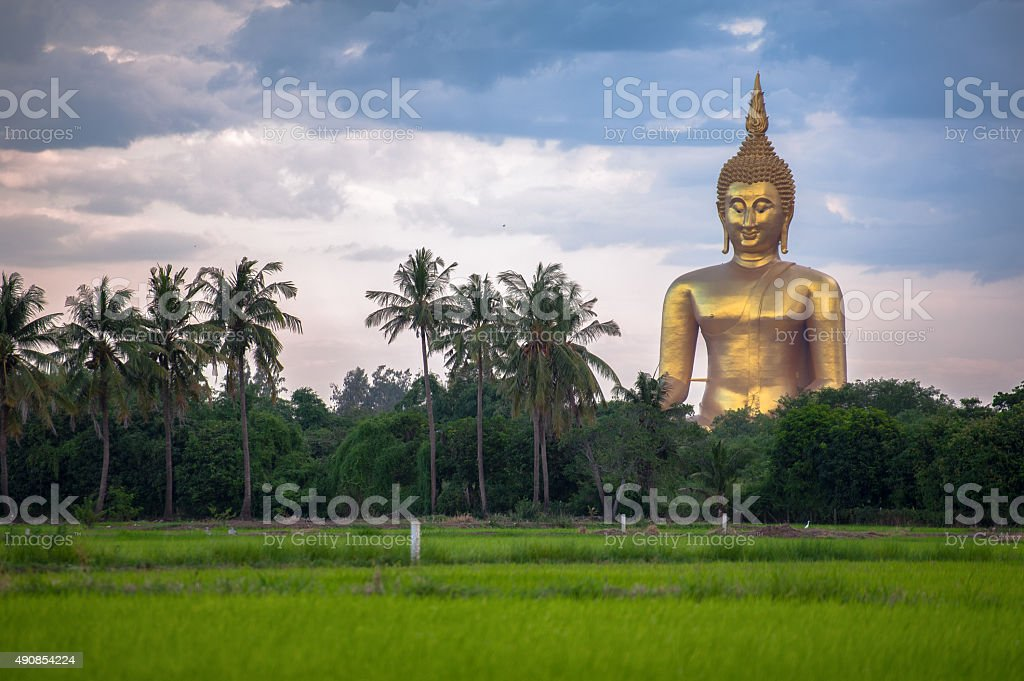 Wat Muang in Ang Thong,Thailand stock photo