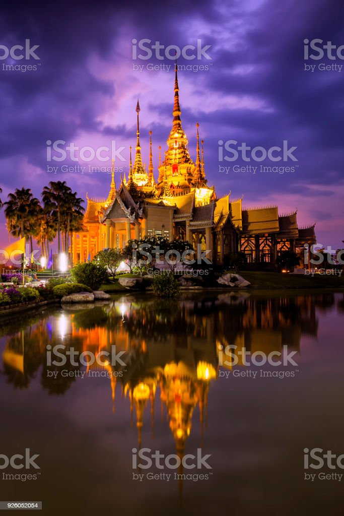 Wat Non Kum , Temple in Bangkok  Thailand. stock photo