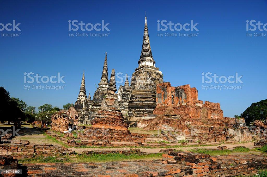 Wat Phasisanphet Ayuthaya, Thailand royalty-free stock photo