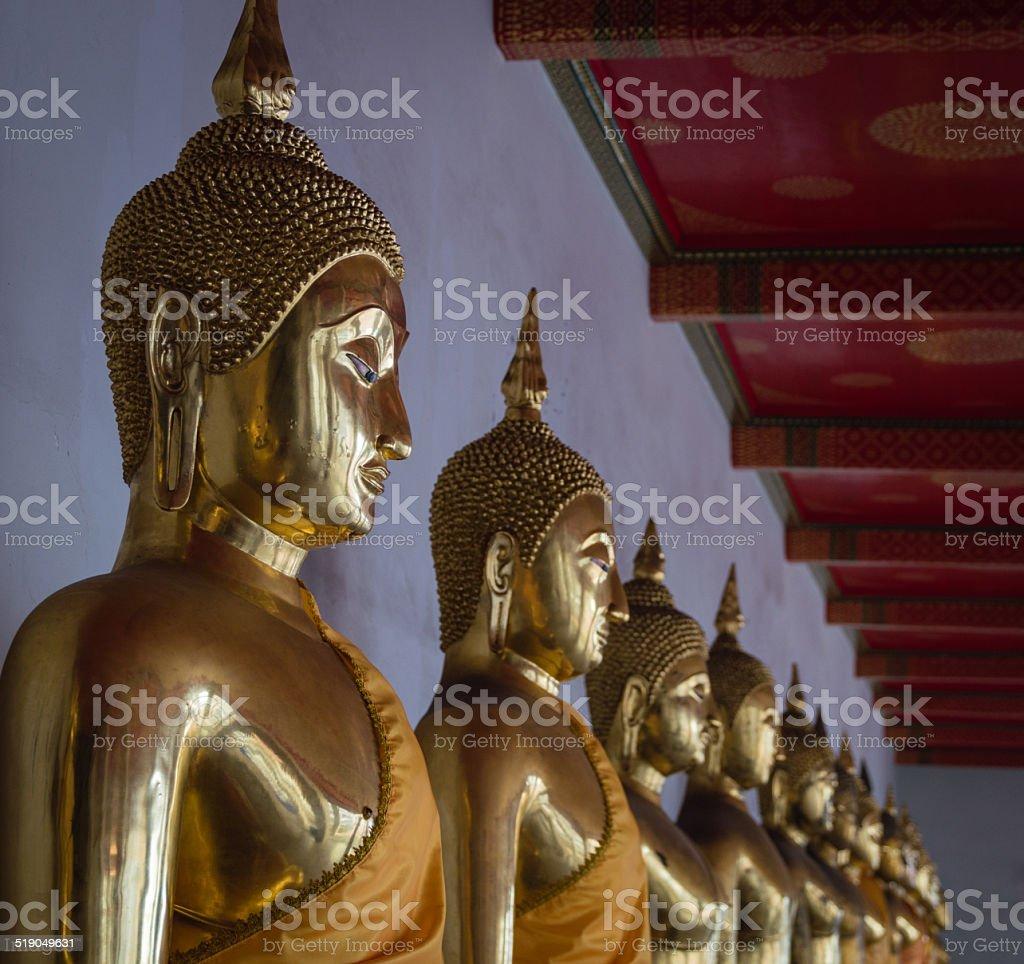 Wat Pho Buddha stock photo