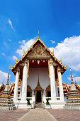 Wat Pho of the Reclining Buddha in Bangkok, Thailand