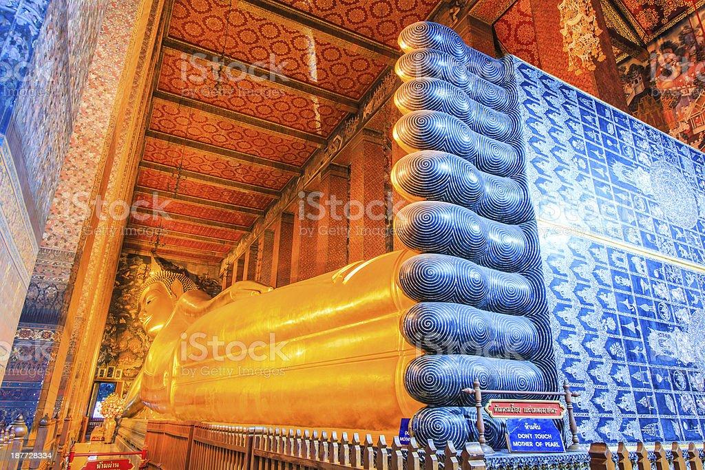 Wat Pho  temple Bangkok, Thailand royalty-free stock photo