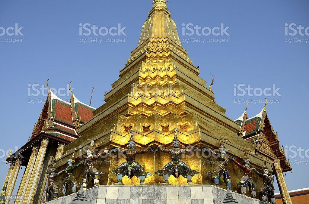 Wat phra kaeo bangkok thailand. royalty-free stock photo
