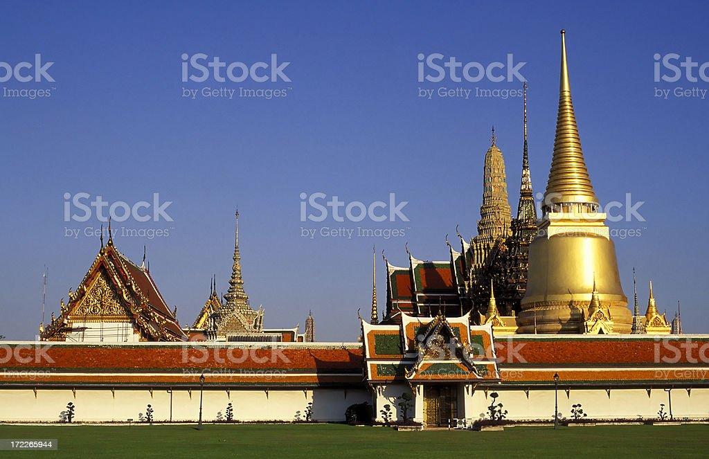 wat phra kaeo temple bangkok thailand royalty-free stock photo