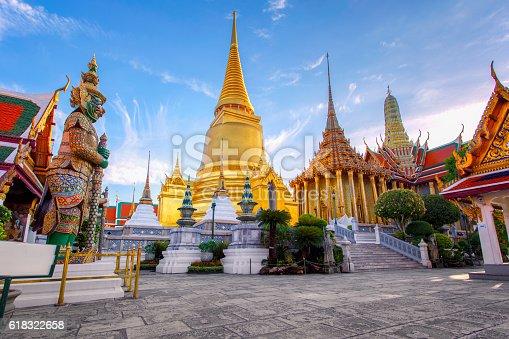 Wat Phra Kaew Ancient temple in bangkok Thailand