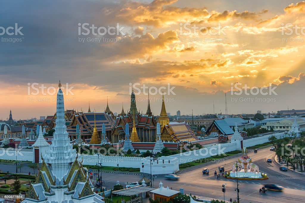 Wat Phra Kaew starożytnej świątyni w bangkok Tajlandia zbiór zdjęć royalty-free