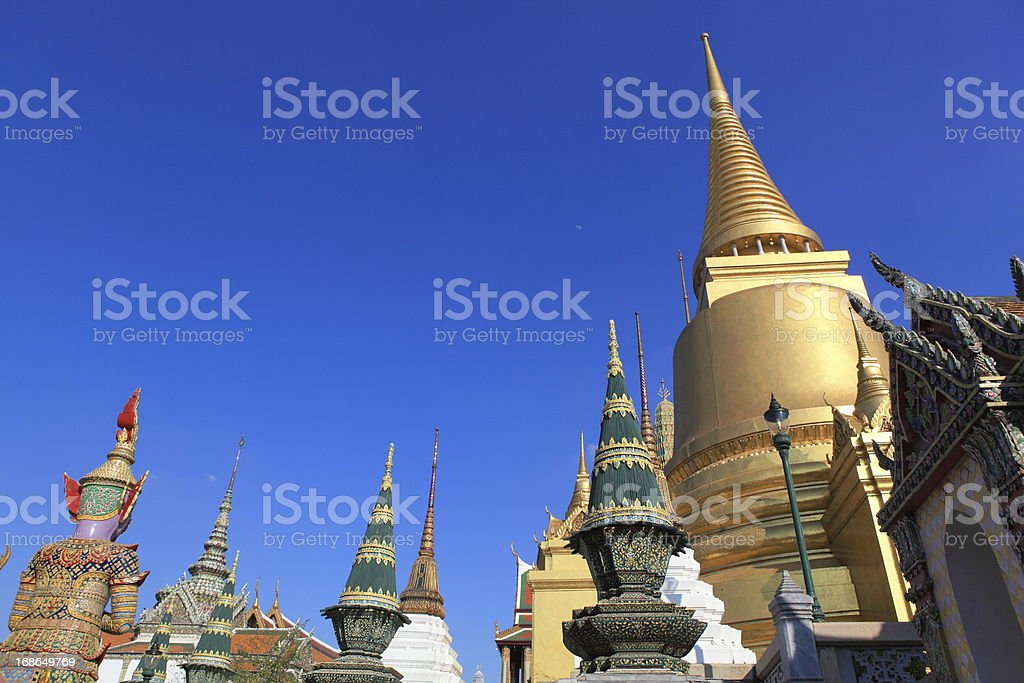 Wat Phra Kaew,  Bangkok, Thailand. royalty-free stock photo