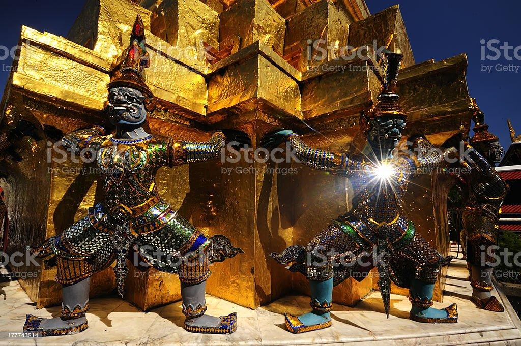 Wat Phra Kaew, Bangkok, Thailand royalty-free stock photo